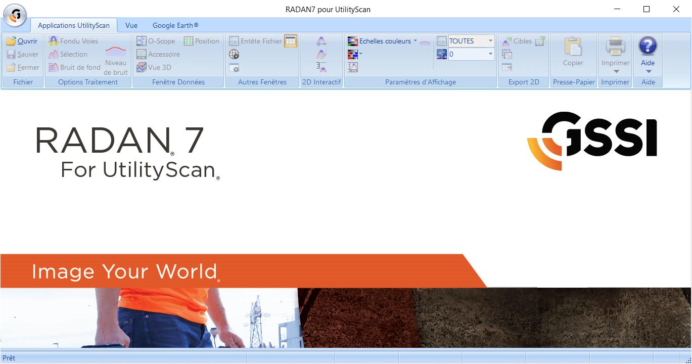 RADAN 7 pour UtilityScan - Accueil