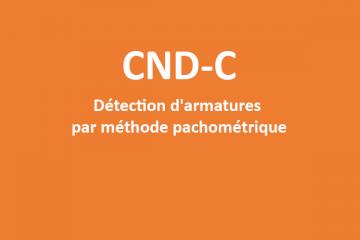 CND-C - Formation détection d'armatures par méthode pachométrique