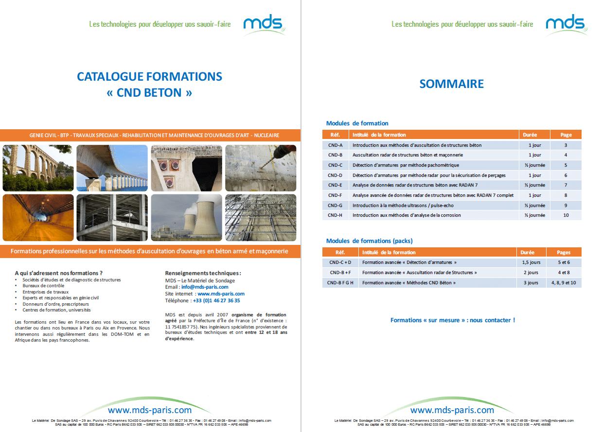 Catalogue des formations CND Béton