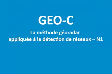 GEO-C - Formation géoradar détection de réseaux N1