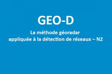GEO-D - Formation géoradar détection de réseaux N2